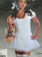 Dorothy Costume Adult Sexy Wizard of Oz Halloween Fancy Dress Dreamgirl Sz M orS