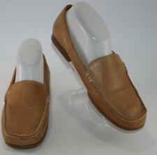 a04ae67880f White Mountain Women s Brown Leather Slip On Moc Casual Loafers Size 8.5 M  Shoes