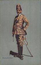 German Military Soldier/Officer in Uniform Aluschwitz Kurettski 1915 WWI PC #3