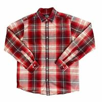 The North Face Long Sleeve Shirt Button Down Men's Size Large Red Plaid EUC