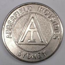Abberfield Industries token. Australian. Free postage Australia.