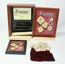SCRABBLE 2005 Vintage Game Collection~Wooden Book Look Case~COMPLETE!