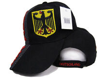 German Eagle Germany Deutschland Country Black Baseball Hat Cap 3D embroidered
