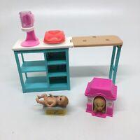 Barbie Doll Breakfast Waffle Maker PlaySet -Baby Scale W/a Baby-Dog House w/Dog