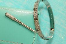 3ct White Gold Finish 16cm or19cm 14k Diamond Bangle Bracelet Box Free Shipping