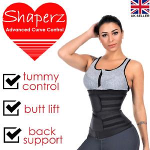 Waist Shaper Trainer Sweat Belt Men Women Body Cincher Tummy Wrap Slim Band UK