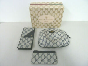 Gucci Accessory Collection Set Makeup Bag Small Coin Purse Eye Glasses Case