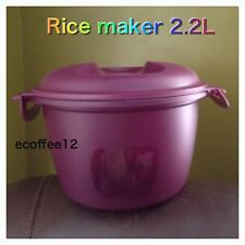 FREE SHIP Tupperware Microwave Rice Maker 4 cups 9 types grain Serve NEW Rubarb