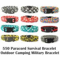 550 Paracord Survival Bracelet Cobra  Snake Outdoor Camping Tactical Bracelet