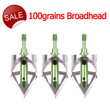 100grains Arrowheads Steel Circular Arc Blades Outdoor Archery Target Hunting Us