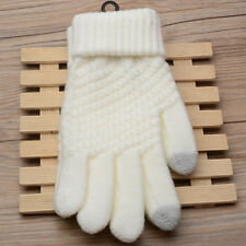 Women Gilr Winter Thick Warm Gloves Lady Soft Knitted Thermal Gloves Full Finger