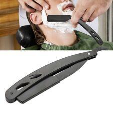 Stainless Steel Straight Edge Men Razor Blades Barber Folding Shaving Knife