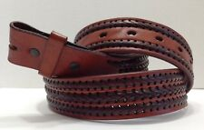 Cognac Brown - Artfully Crafted - Leather Belt Strap - Mexico - Free Shipping