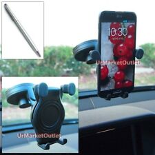 Car Windshield Adjust Arm Mount Holder+Stylus Touch Pen for Samsung Phone/Mobile
