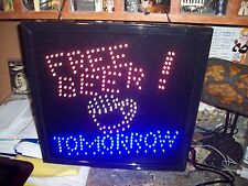 Free Beer Tomorrow Motion LED Sign 16 x 16 WORKING GREAT RARE NO RESERVE