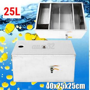 Edelstahl Fett Falle Interceptor 500 (m3/H) Für Küche Abwasser 25L