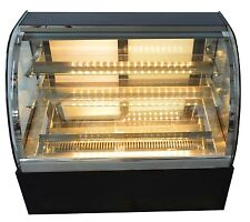 New Countertop Refrigerated Cake Showcase 220V Commercial  Diamond Glass Display