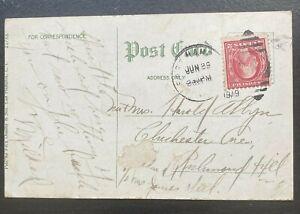 1919 George Washington Red 2 Cent Postage Stamp East Hampton Playground School