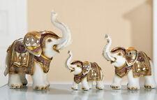 Gilde Elefantenfamilie 3-teilig 12 - 24 cm groß byzantinisch mit Spiegelmosaik