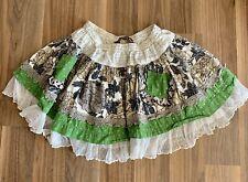 Mustard Pie ~ Ella Evergreen Cream Girls Ruffled Skirt ~ Size 10