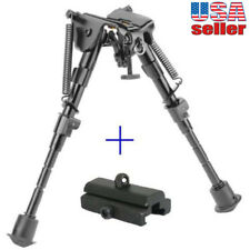 """6"""" to 9"""" Adjustable Spring Return Sniper Hunting Rifle Bipod with Rail Mount"""