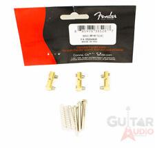 (Set of 3) Genuine Fender Compensated Brass Saddles Vintage Telecaster/Tele