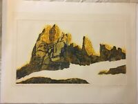 """Roslyn Rose -- """"The Great Alp"""" -- Vintage Lithograph Art Print -- 43/50 & Signe"""