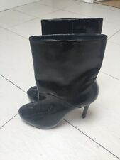 Brand New Black Patent Platform High Calf Length Boots Oasis Size 6 RRP £85