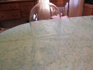 "LARGE GLASS DISPLAY DOME 5 3/8"" X 11"" TALL"