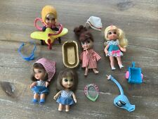 KIDDLES SKEDIDDLE dolls Lot - TLC Airplane, Bathtub, Pusher, Wagon, shoes