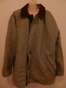 Columbia Men's XL Canvas Barn Chore Coat Jacket Removable Liner Insulated Khaki