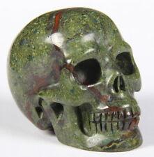 5.1cm Dragon Blood Jasper Carved Crystal Skull 105g