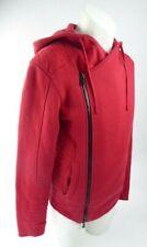 BALMAIN PARIS Size M Men's Red Zip Detail Hoodie Sweatshirt