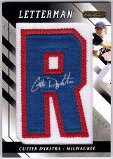 "Cutter Dykstra 2008 Razor Letterman ""R"" #CTDR Autograph Patch 3/20"