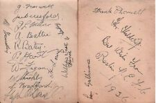 PRESTON NORTH END FC (1936 team with Bill Shankly) SIGNED AUTOGRAPHS