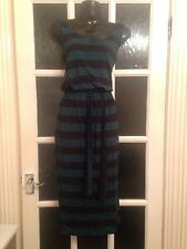 Bnwot Size 8 Long Striped Dress Atmosphere New Comfy Summer Cool
