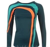 YAS Booster Ladies Long Sleeve Thermal Top Training Breathable Navy Large *8