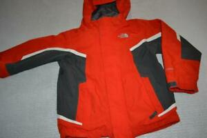 26053-a Boys The North Face Jacket Skiing Snowboarding Hyvent Size XS 6 Red Gray