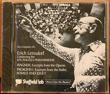 SHEFFIELD Lab CD 7/8: WAGNER Excerpts, PROKOFIEV Romeo Juliet Leinsdorf, 1978 SS