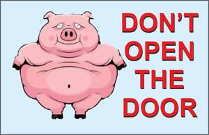 Don't Open The Door Acrylic Fridge Magnet Funny