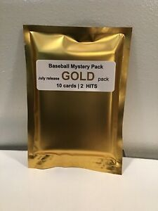 10 RANDOM Mint Condition BASEBALL CARDS GOLD PACK 10 cards | 1 Auto + 1 Relic 🔥