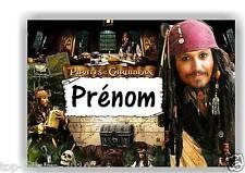 Plaque de porte sur  bois  Pirates des Caraibes  n° 20