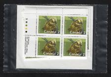 Canada — Set of 4 inscription Corner Blocks — 1988, Mammal: Porcupine #1156 Mnh