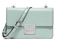 MICHAEL KORS Sloan Small Gusset Crossbody & Clutch - Celadon Msrp 228.00