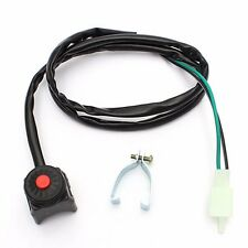 Motorcycle ATV Dual Sport Dirt Bike Quad Start Horn Kill Off Stop Switch Button