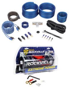 Rockville RXC2D 2 Farad Stiffening Capacitor + Rockvile RWK41 4 AWG Amp Kit