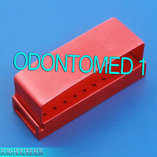 30 Holes Dental Aluminum Bur Burs Holder Box Autoclave Red Color DN-2085
