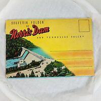 Souvenir Folder of NORRIS DAM & TENNESSEE VALLEY  Fold-out Postcard