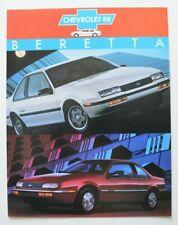 CHEVROLET BERETTA 1988 dealer sheet brochure - French - Canada