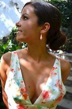 NWT ZARA Long V-Neck Printed Floral Maxi Flower Dress SIZE L Ref.2642/571